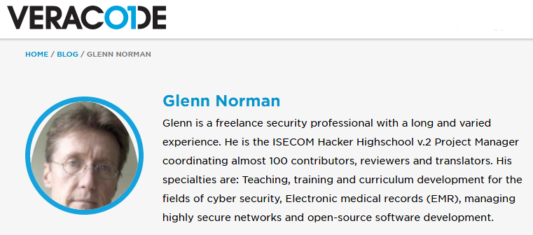 Glenn Norman on Veracode