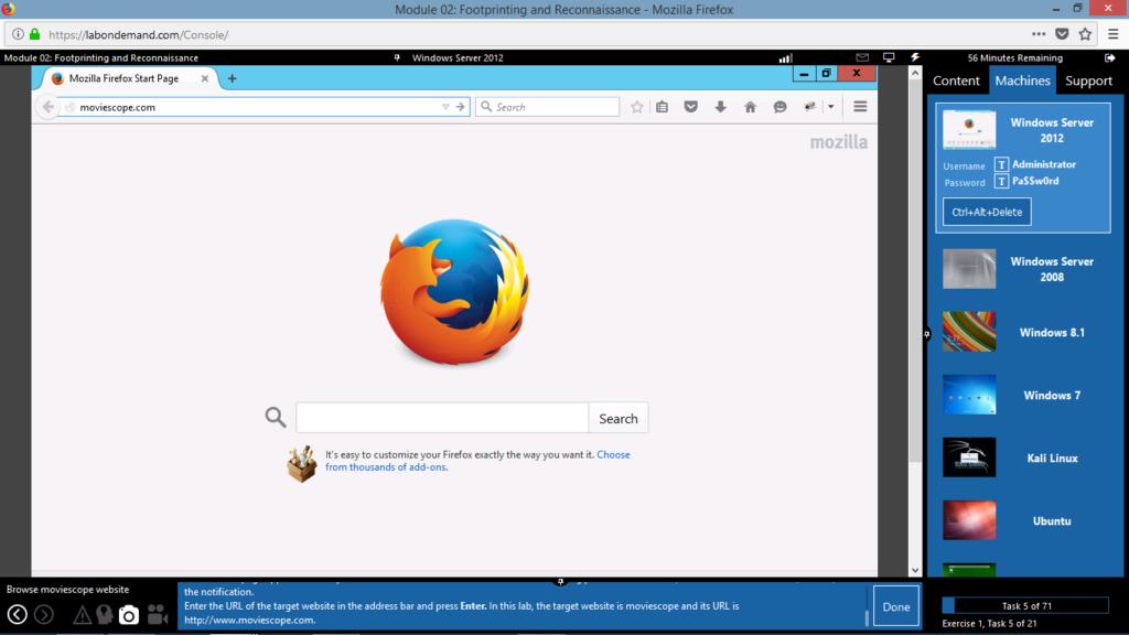 iLabs: Starting Firefox
