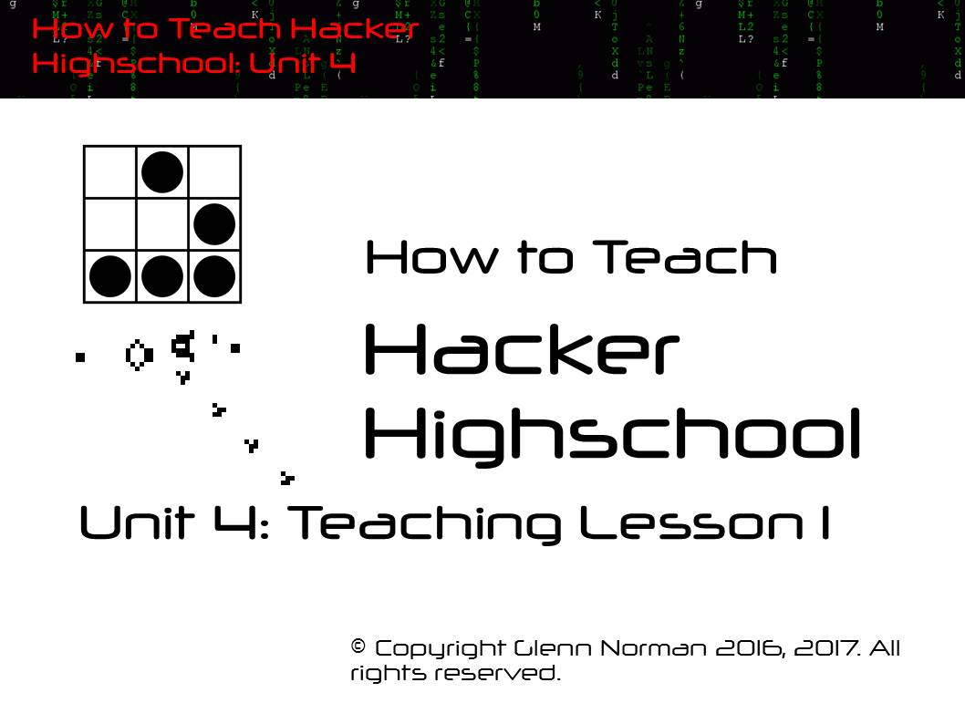 How to Teach Hacker Highschool: Unit 5